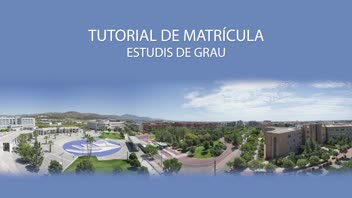 Tutorial matrícula