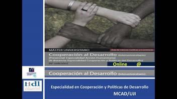 Imatge Vídeo Màster Universitari en Cooperació al Desenvolupament (Pla de 2015) (A distància)
