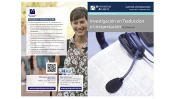 Vídeo Màster Universitari en Investigació en Traducció i Interpretació (Pla de 2013)